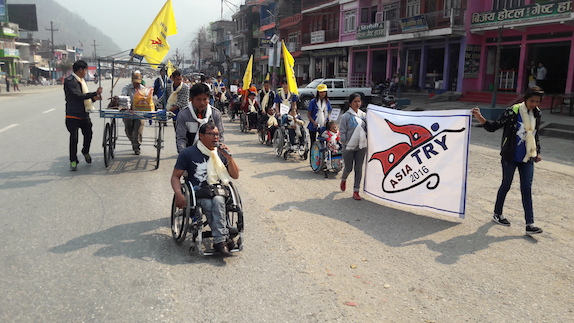 Independent living society asia try campaign march