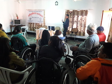 Independent living society orientation on human rights and disability event